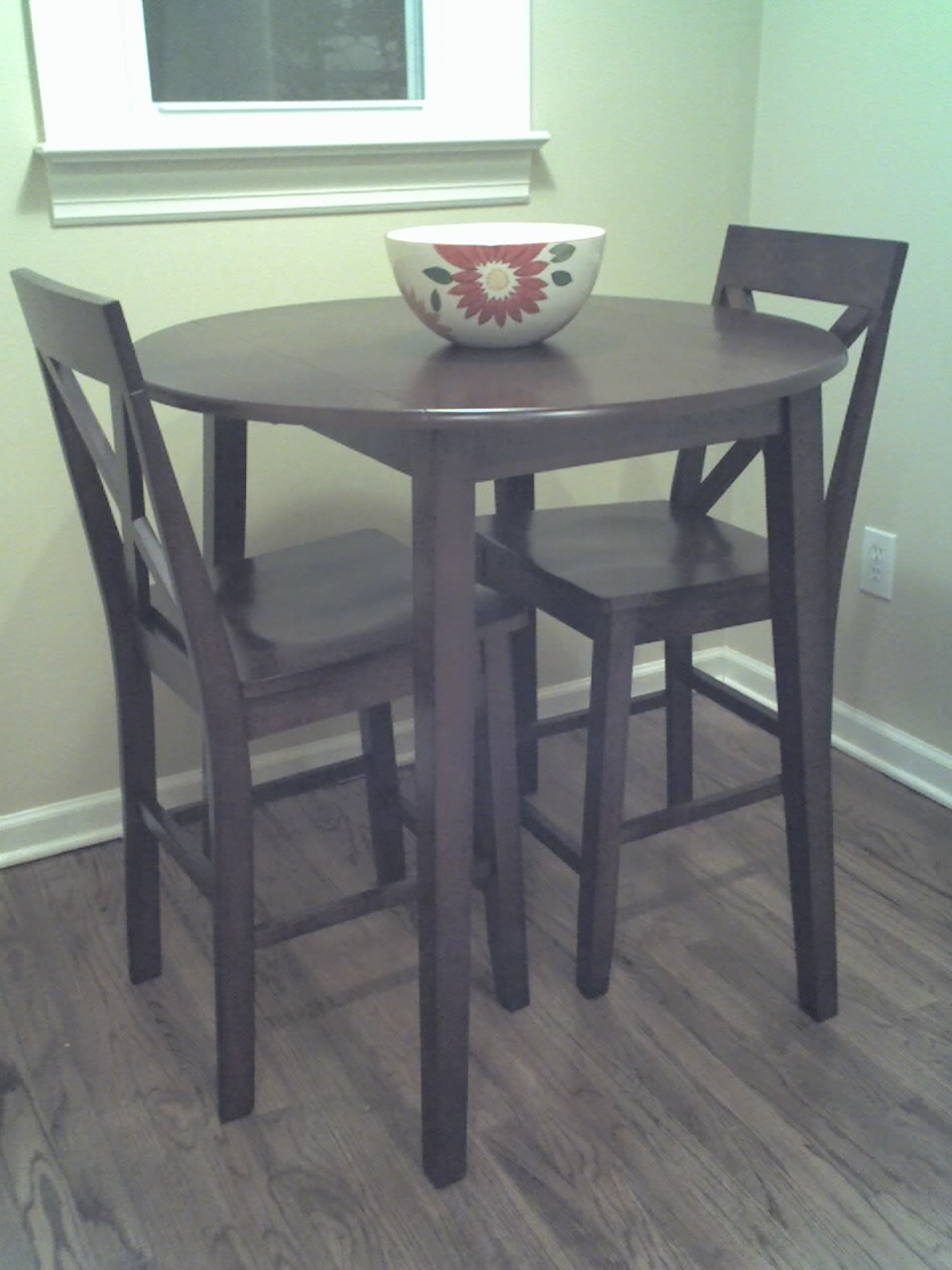 Tall kitchen table with stools mahogany in keepitmovin 39 s for Kitchen table with stools