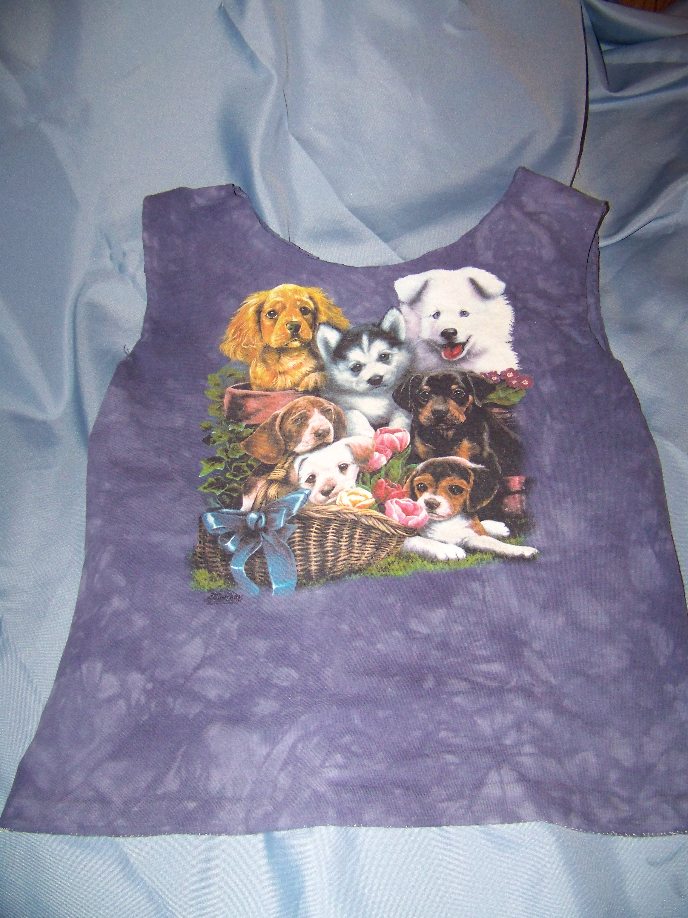 Tshirt tote 100-4152 Dogs purple