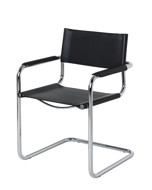 Breuer black leather modern chairs 2 in furnitureandmore for Outdoor furniture 77386
