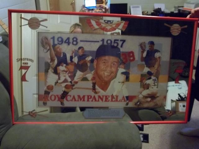 """Roy Campanella 24\' X 40\"""" Seagrams 7 Mirror"""