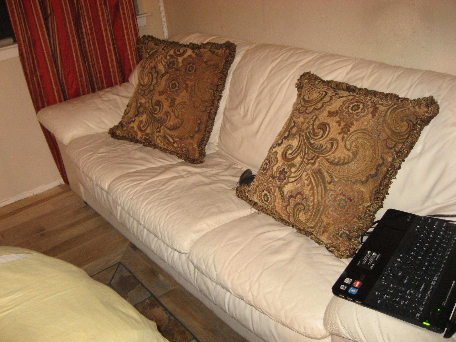 leather beige couch