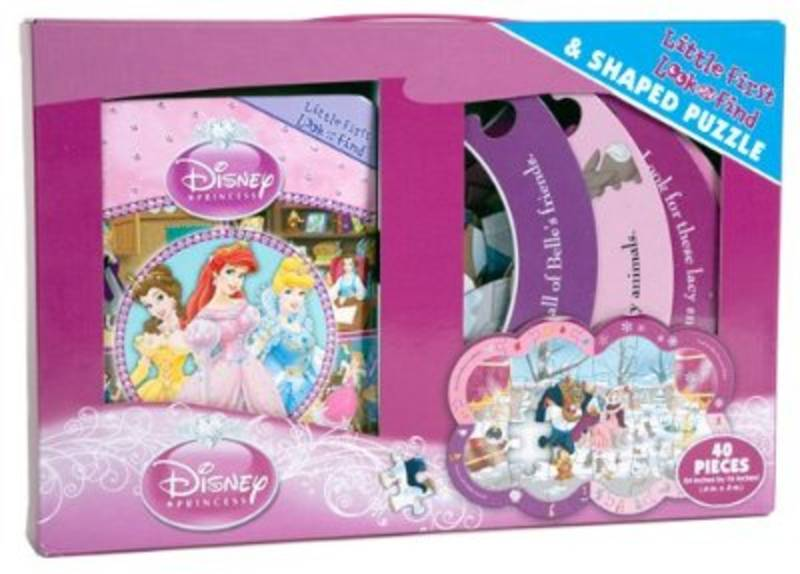 Disney Princess Look & Find Book & Puzzle