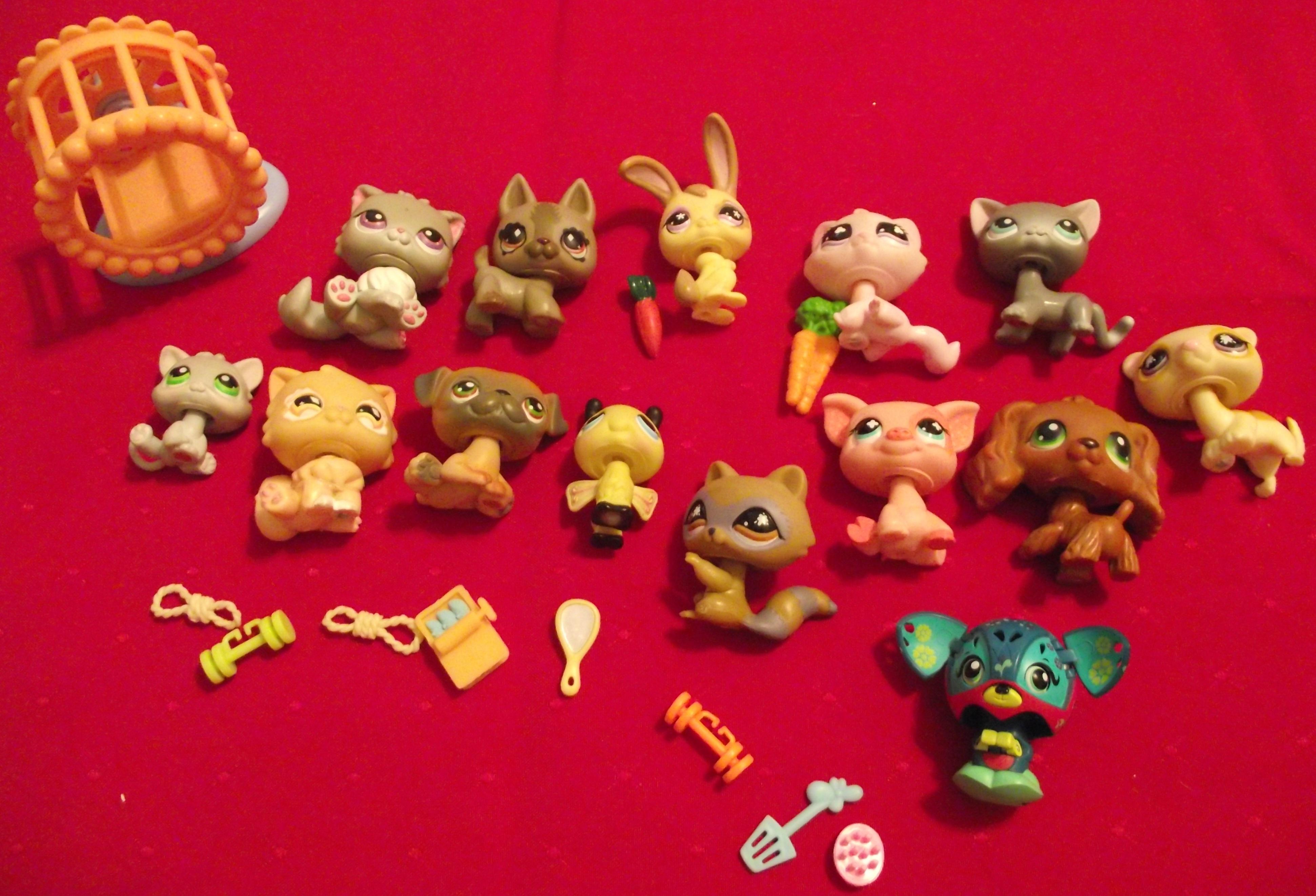 Lot: 14 Littlest Pet Shop Figures & Accessories
