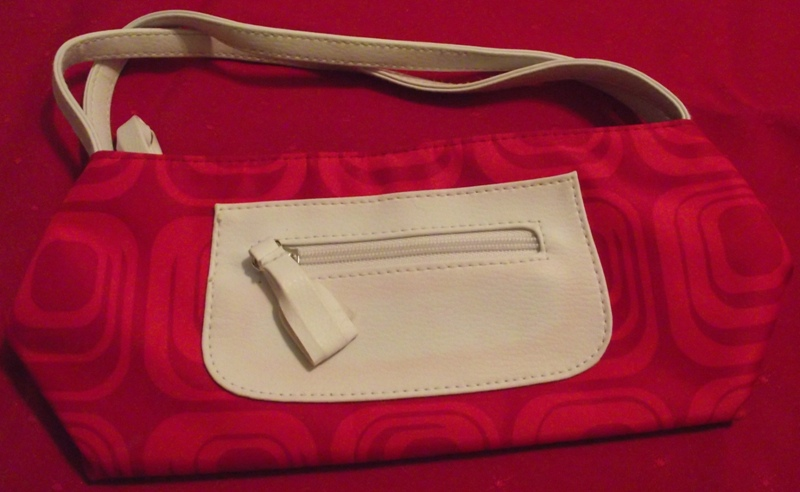 Red & White Handbag