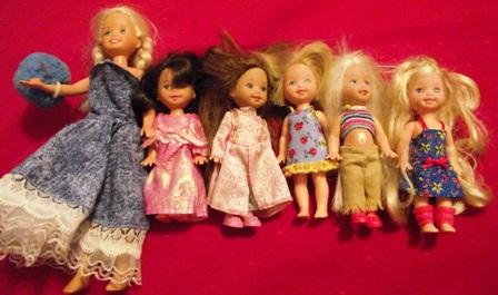 Barbie Kid Dolls and Kelly Doll