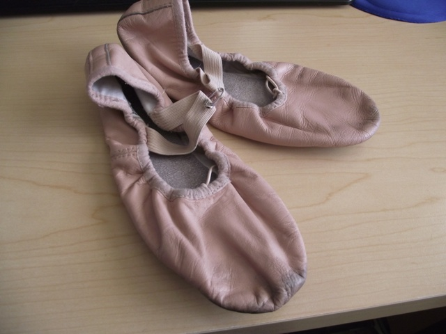 Pink Leather Ballet Slippers - Bloch Size 3A