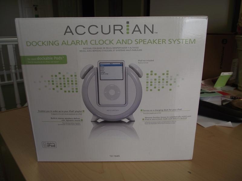 Accurian iPod Docking Alarm Clock & Speaker System