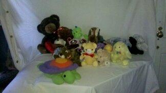35 assorted plush animals