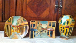 french art 3 piece home decor set in lynne 39 s garage sale