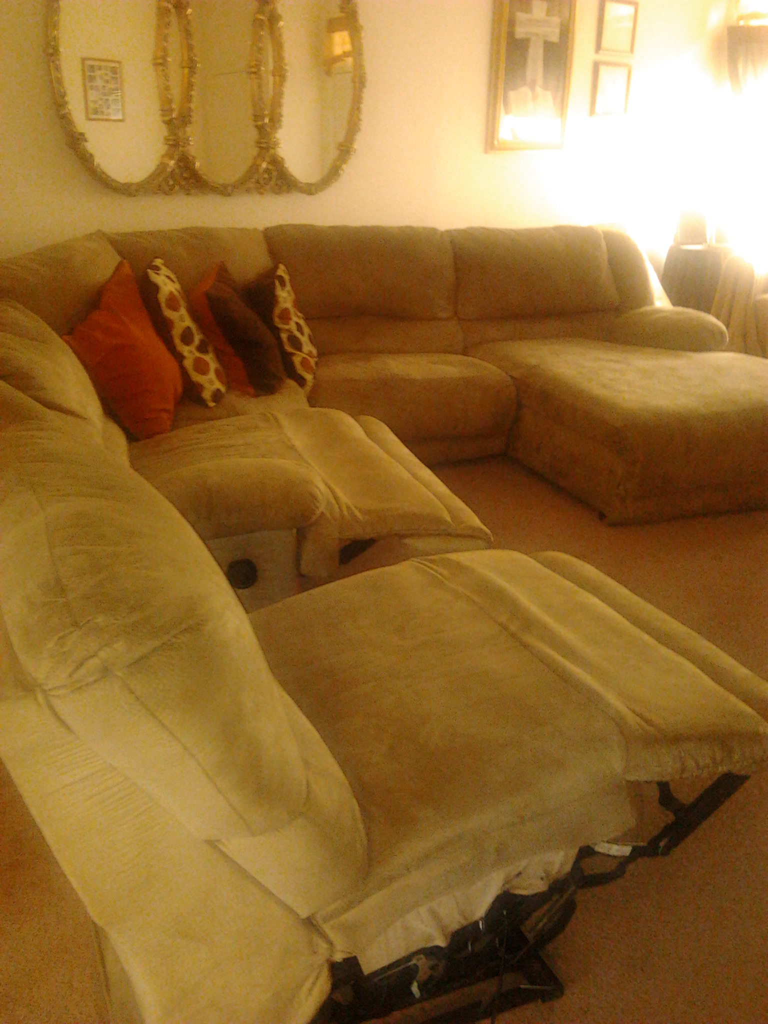 large section w/recliner