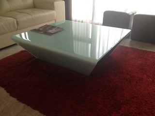 Yindy Kiln Formed Glass Coffee Table