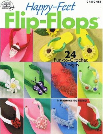 Happy-Feet Flip-Flops Crochet Pattern