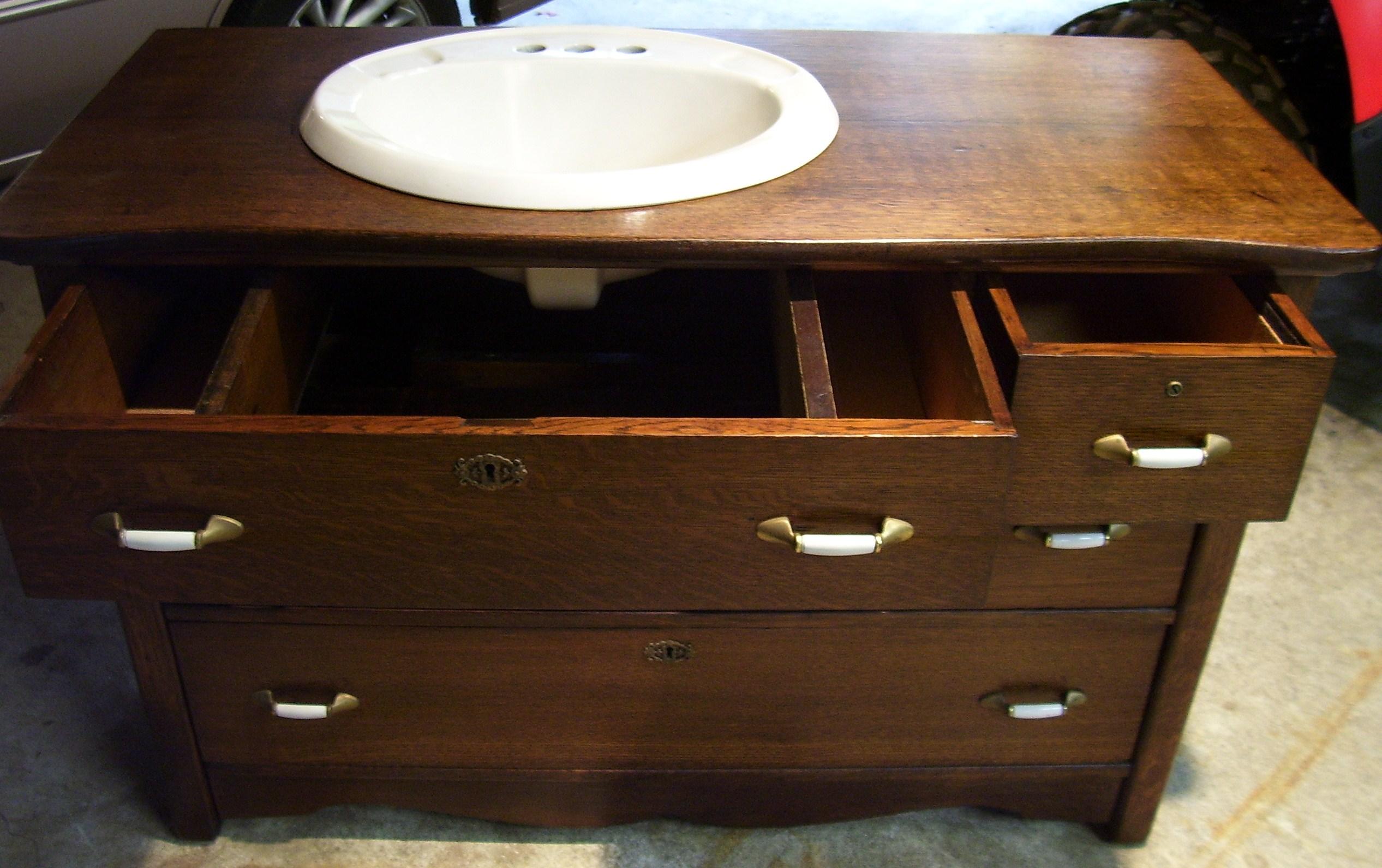 Repurposed Antique Dresser Bath Vanity. Repurposed Antique Dresser Bath Vanity in Murfoot  39 s Garage Sale