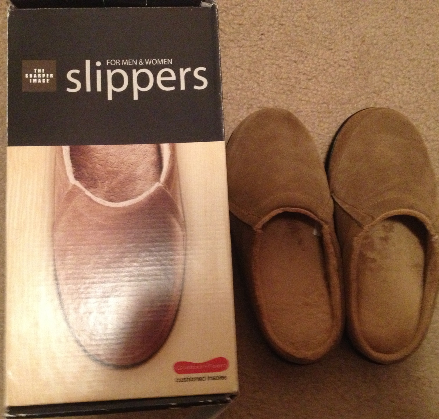The Sharper Image Men/Women Slippers
