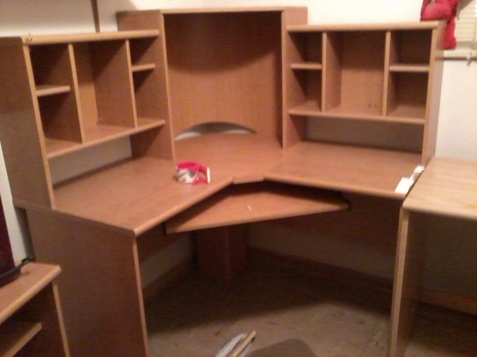 Large Corner Computer Desk In Katherine Weaver S Garage Sale Kenosha Wi