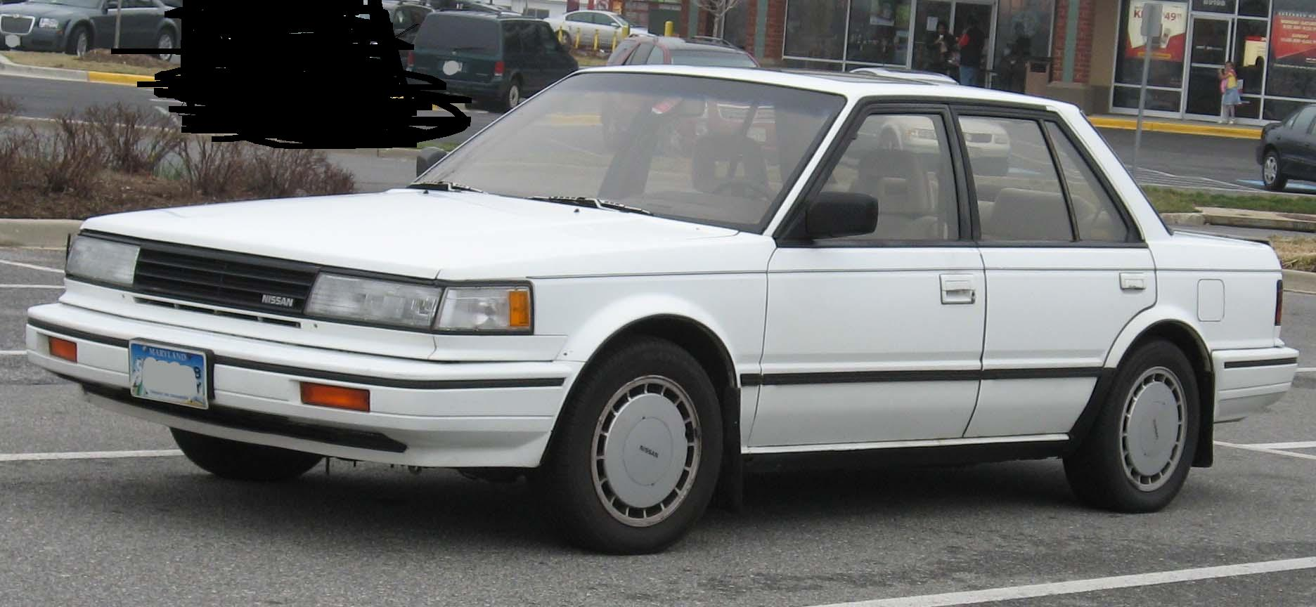 1988 RED NISSAN MAXIMA (LUCAYA, FPO)