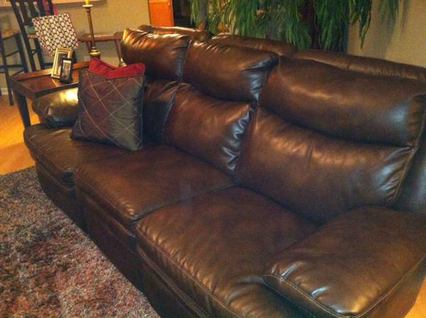 Ashley Furniture automatic leather reclining sofa/couch
