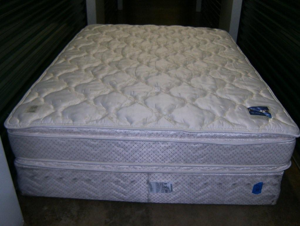 queen size pillow top serta perfect sleeper mattress box spring in. Black Bedroom Furniture Sets. Home Design Ideas