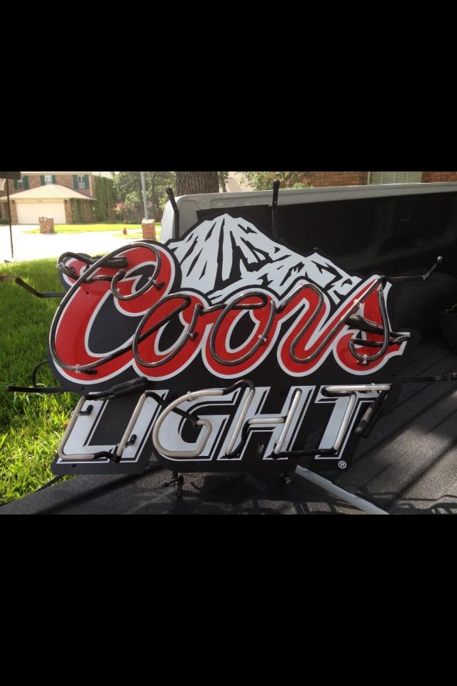 Neon beer sign - Coors Light