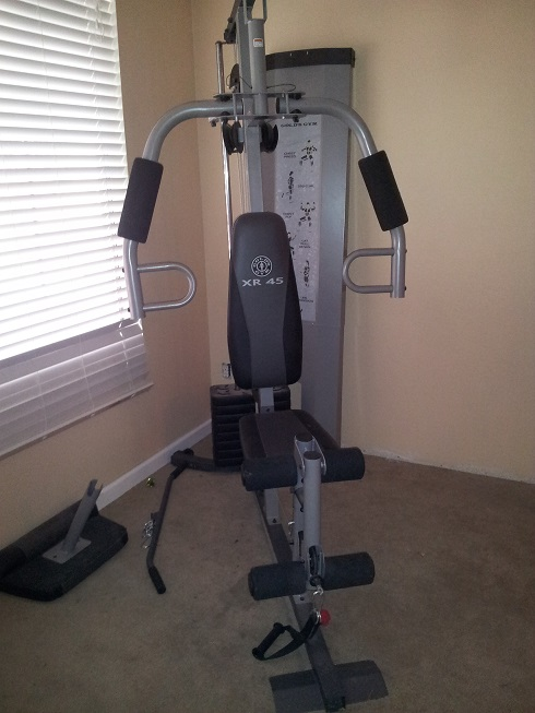 Gold S Gym Xr45 Weight Machine In Melsgaragesale Sale