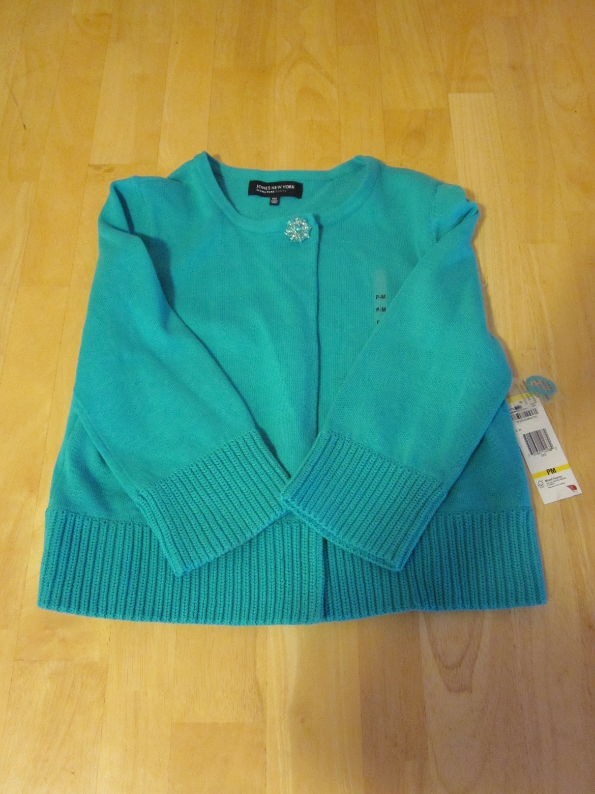 Jones New York Signature Petite Turquoise Sweater - Size PM