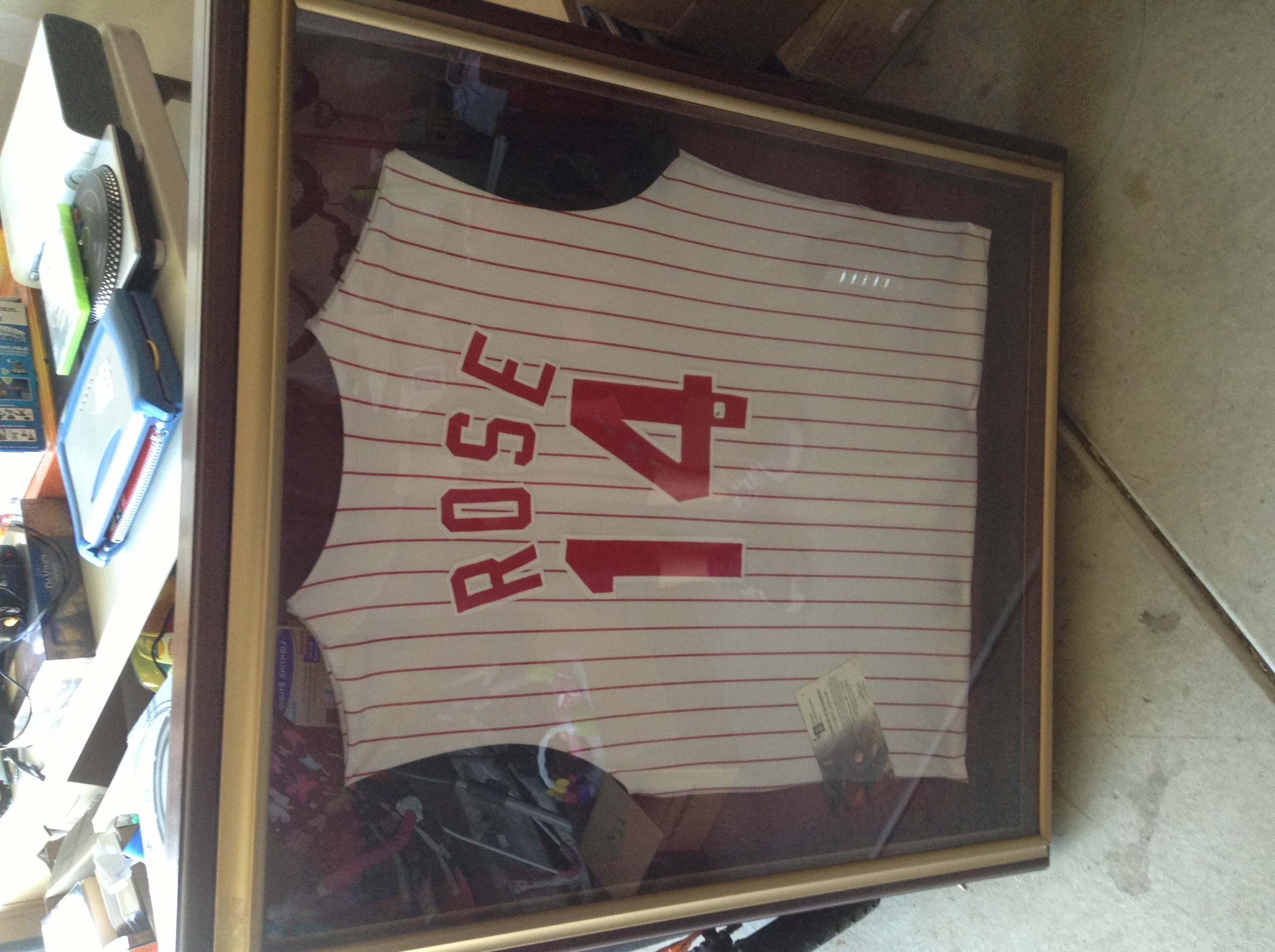 signed pete rose jersey in whatleyworlds garage sale