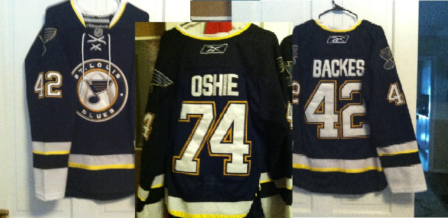 St. Louis Blues Jersey\'s. Oshie and Backes