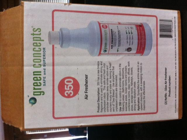 green concept air freshener