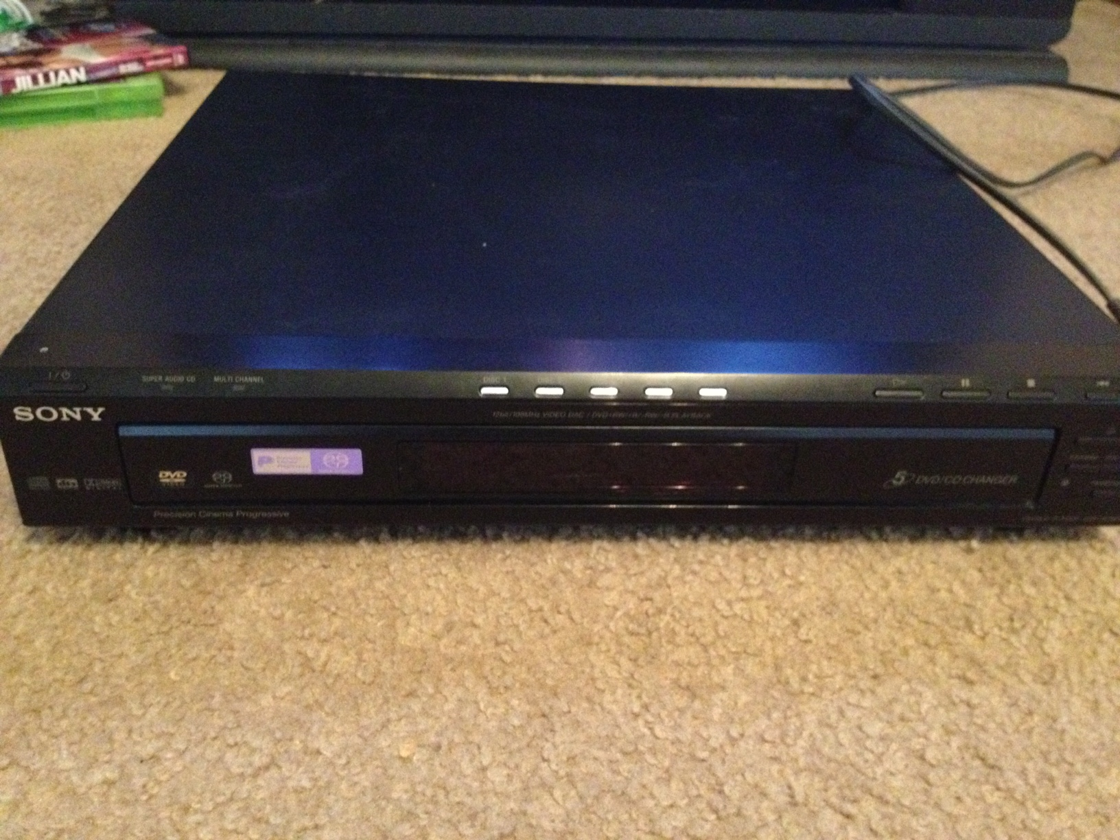 Sony 5 Disc CD/DVD Changer DVDNC80V /Remote