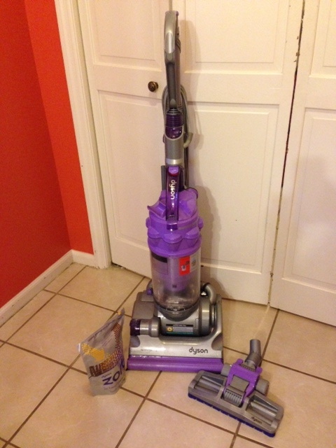 Dyson Dc14 Animal Bagless Upright Vacuum Iron Satin Purple