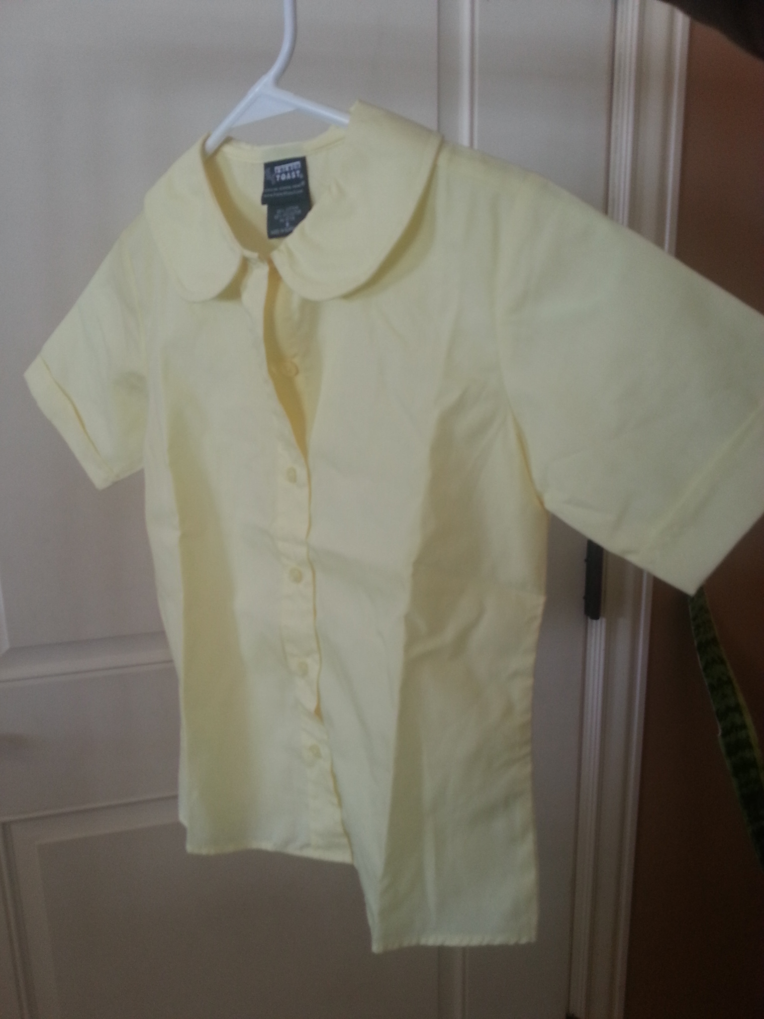 Girls French Toast yellow short sleeve shirt size 8