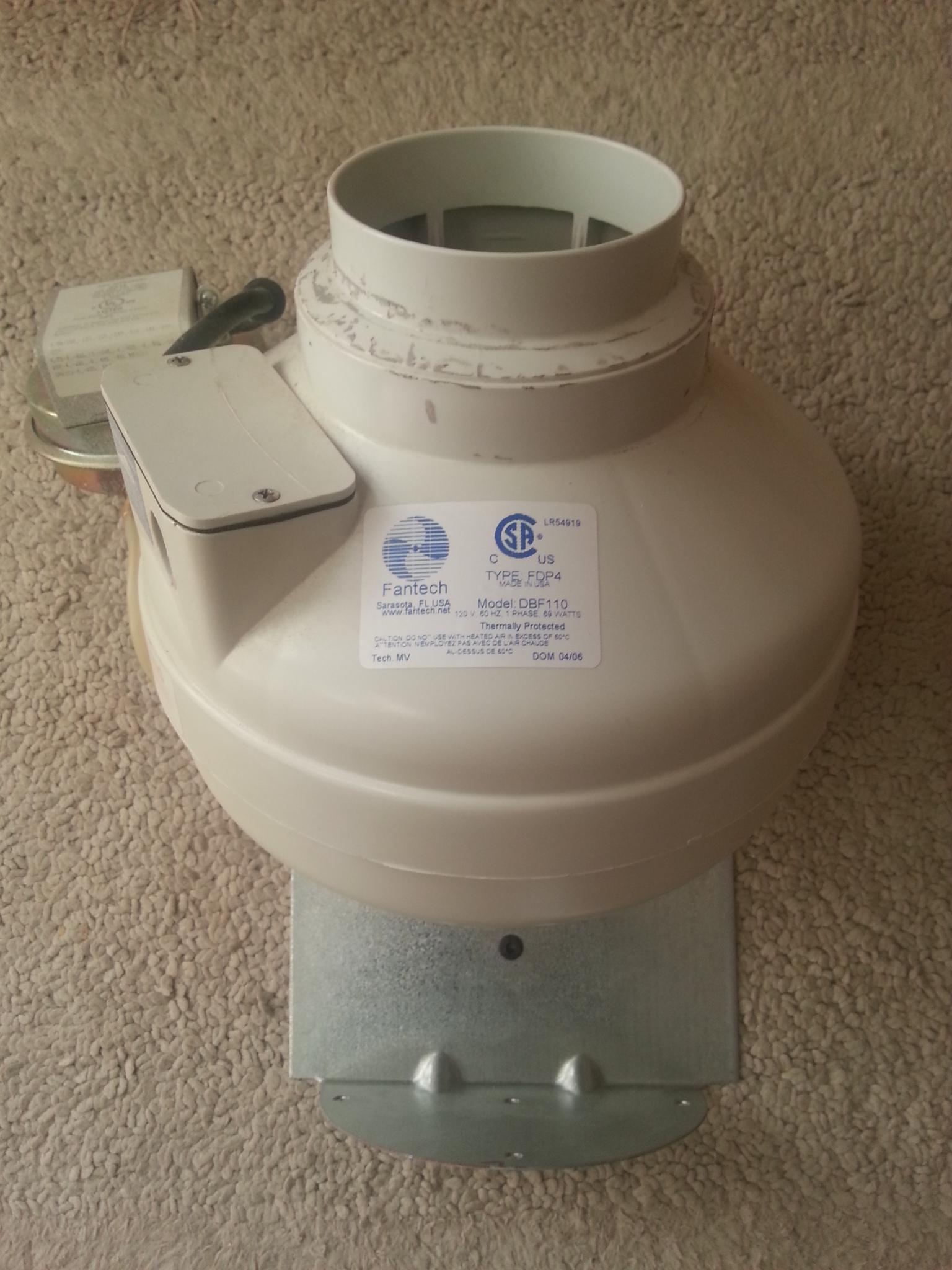 Fan-Tech 4 inch exhaust fan