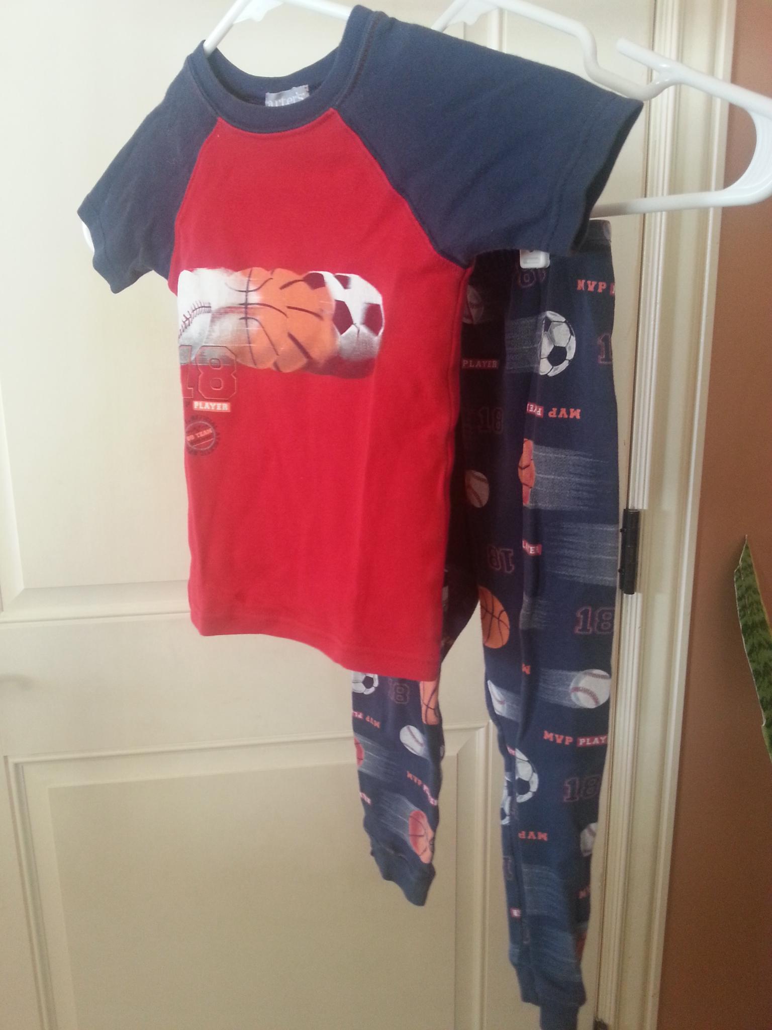 Sprots theme boys pajamas size 4t