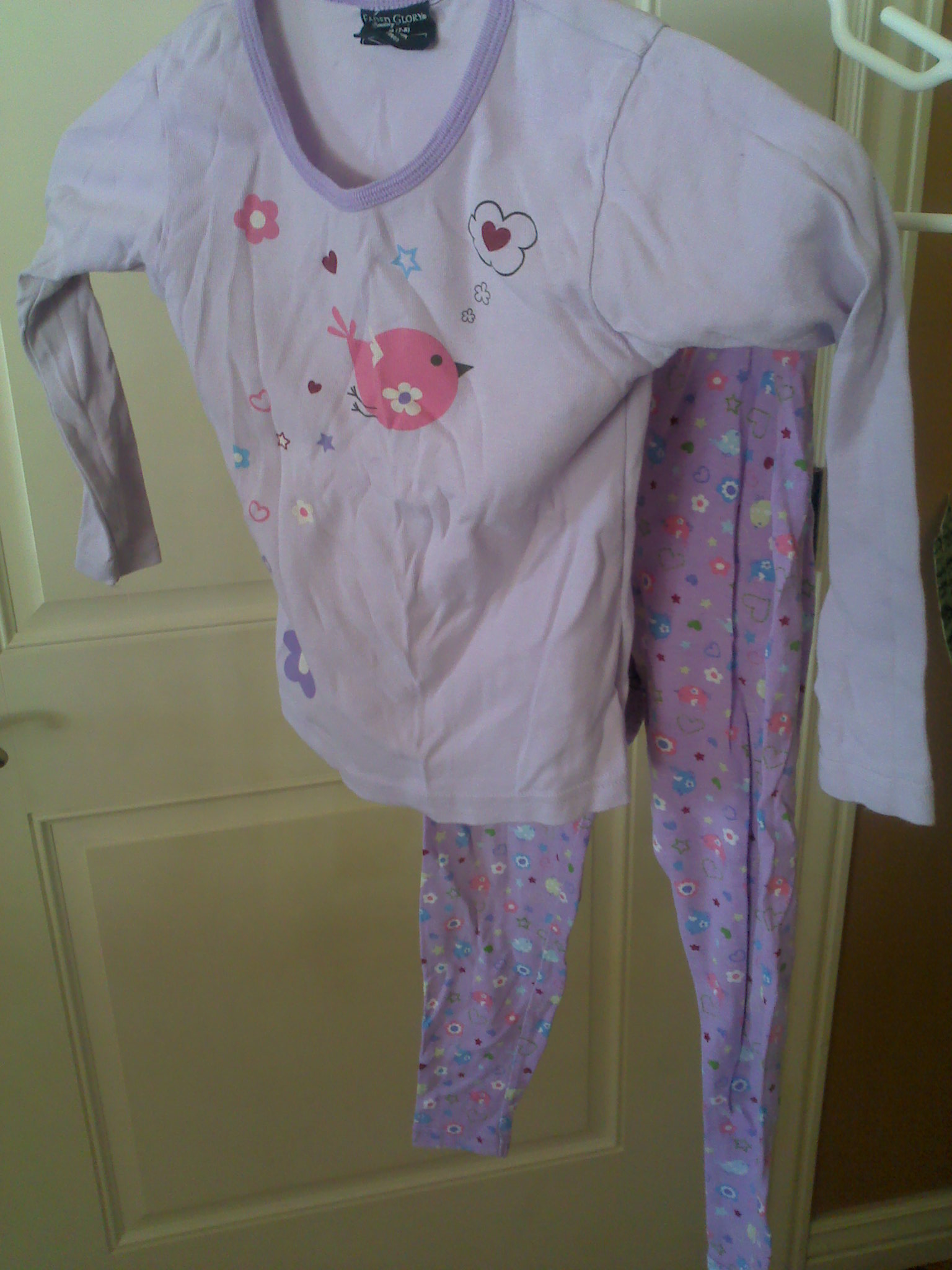 Girls shirt and pants set size M 7-8