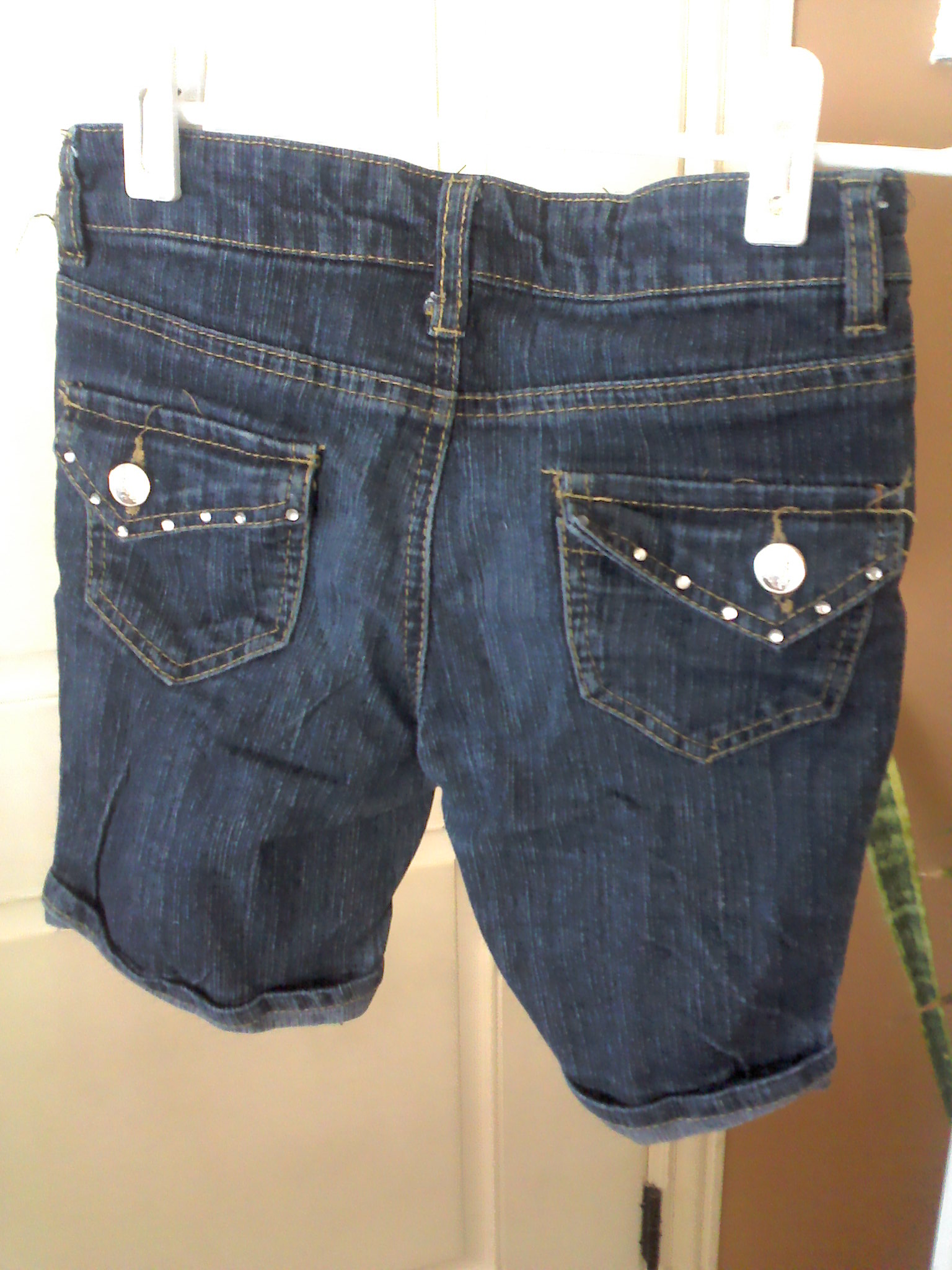 Pink angel jean shorts size 8