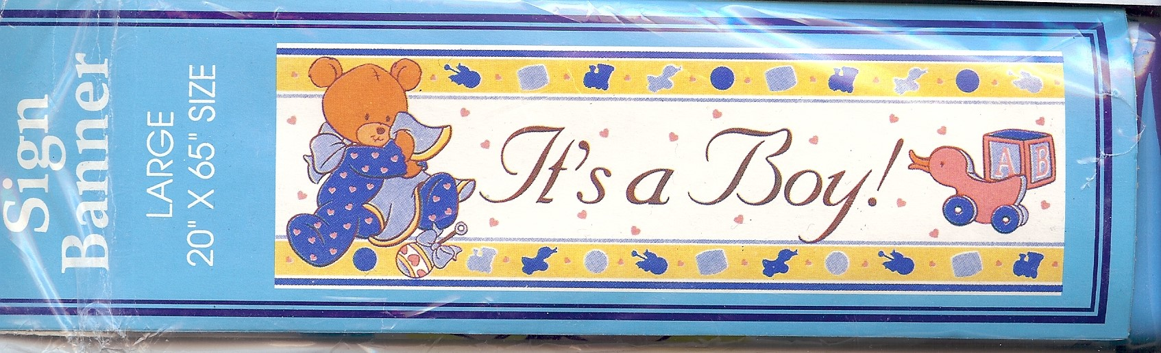 """It\'s a Boy! Sign Banner 20\"""" by 65\"""""""