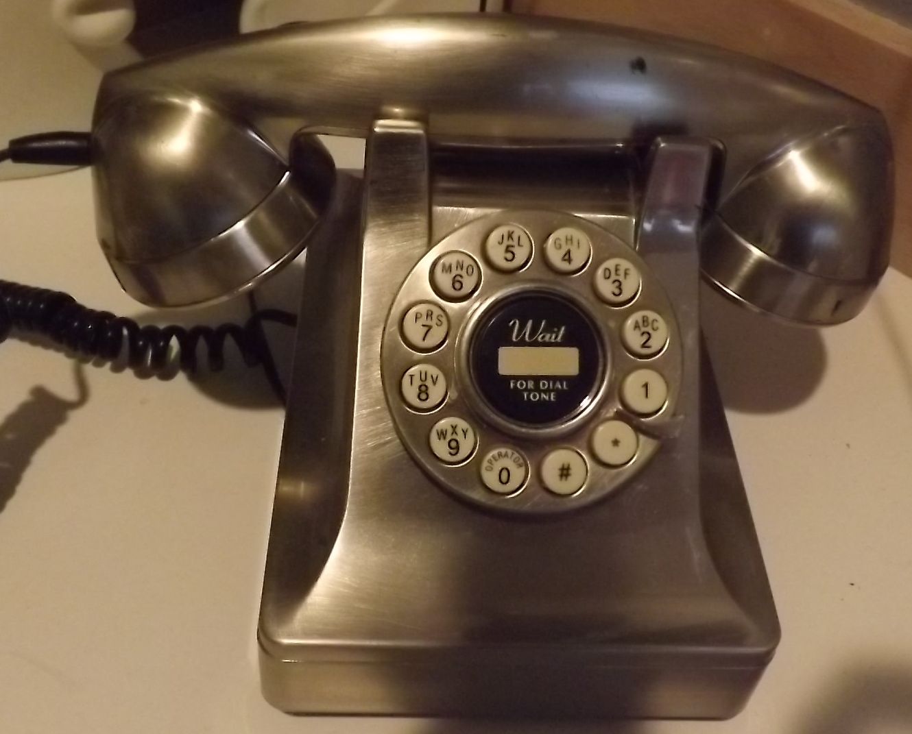 Stainless Steel Old Fashioned Desk Telephone