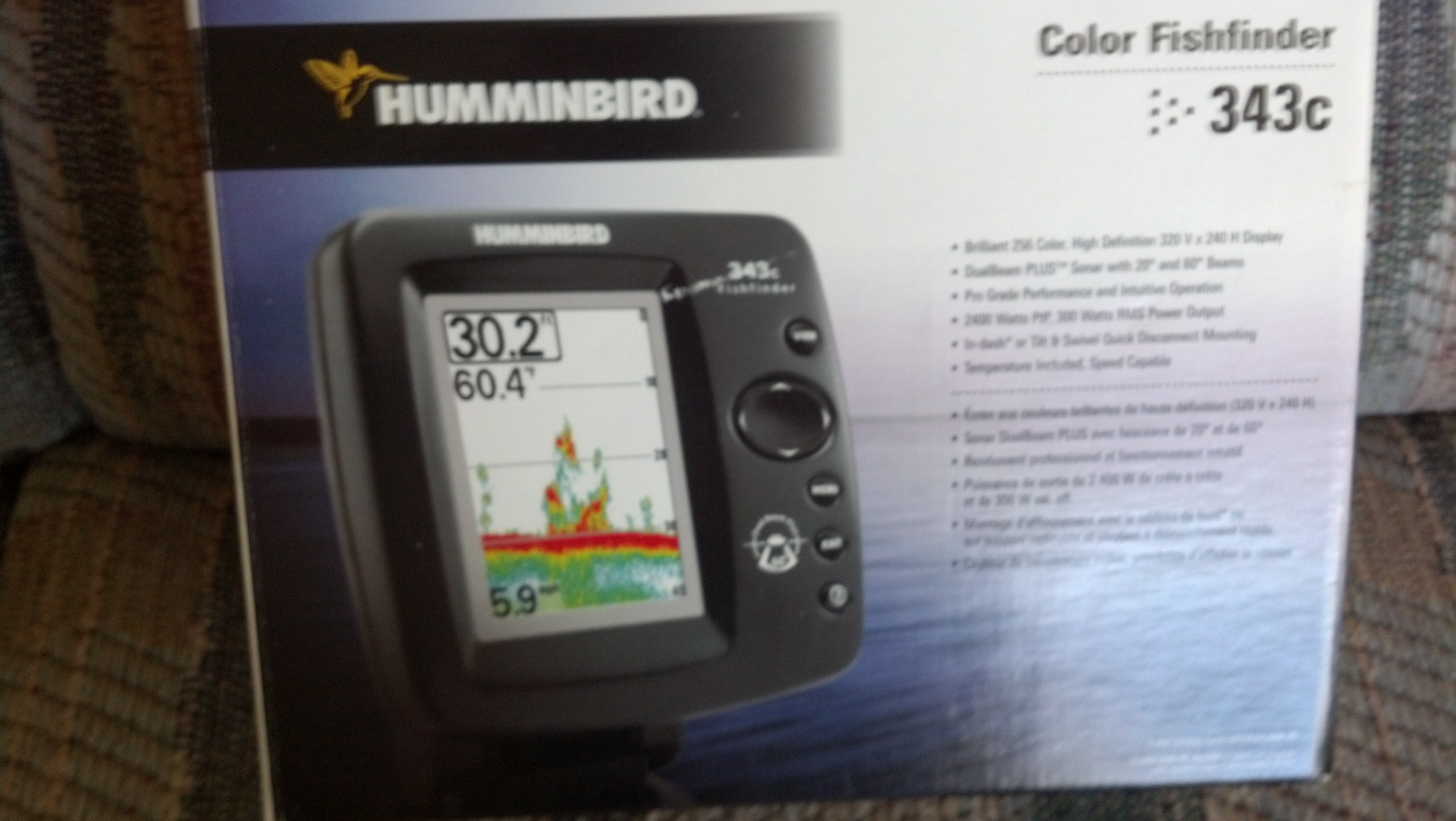 Color Hummingbird 343C Fish/Depth Finder