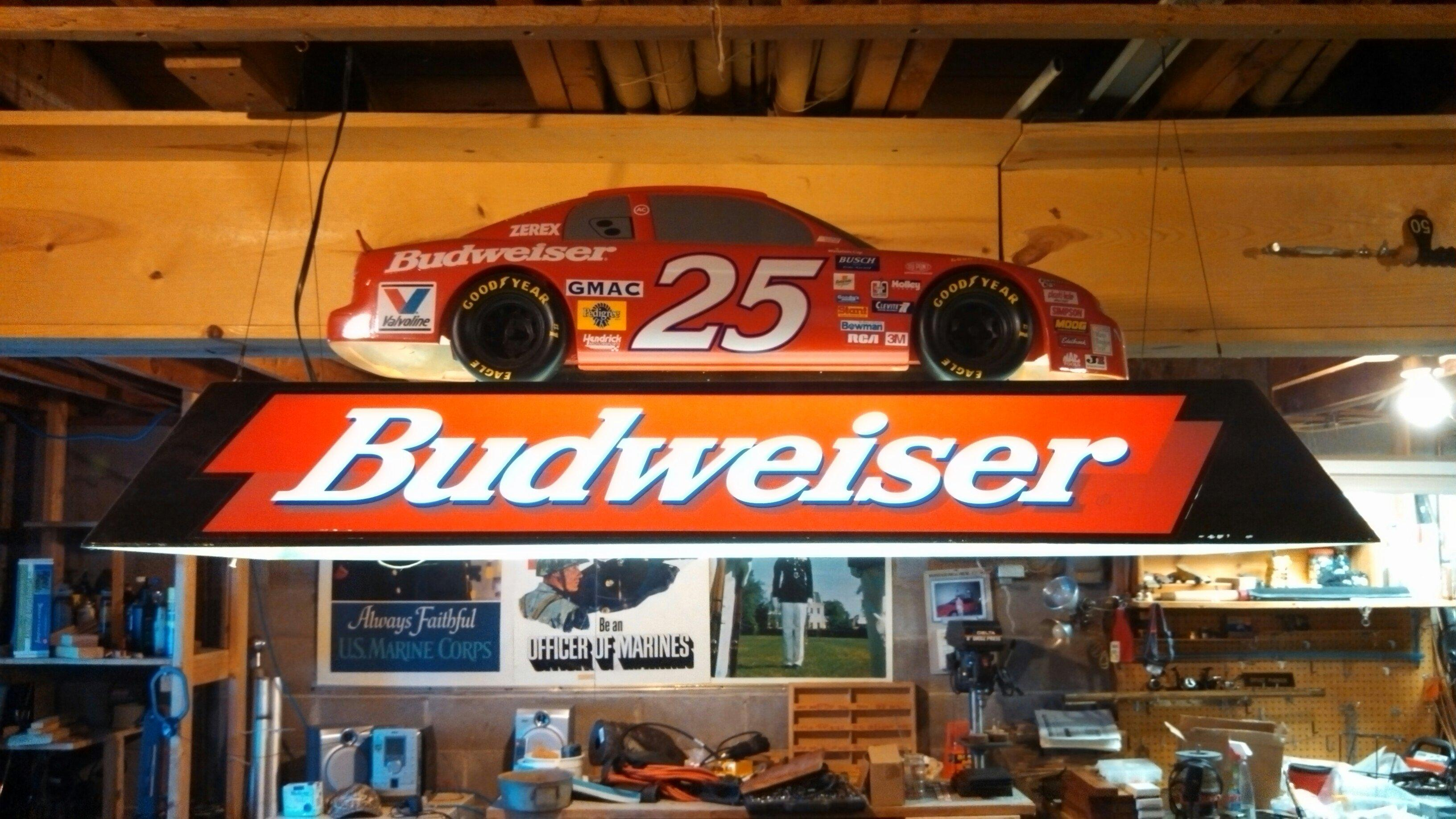 Budweiser #25 Pool Table Light