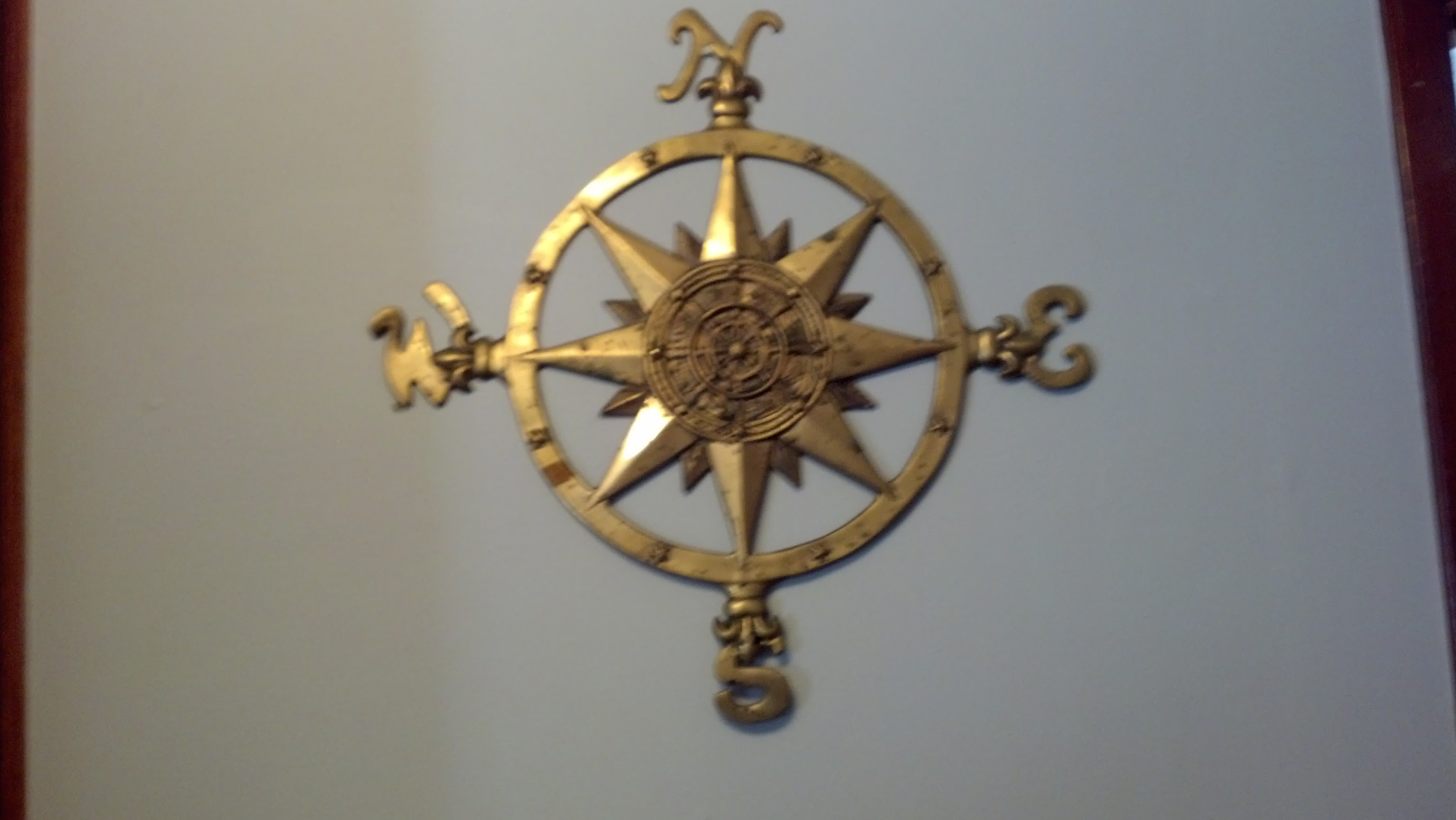 Solid Brass Wall Compass