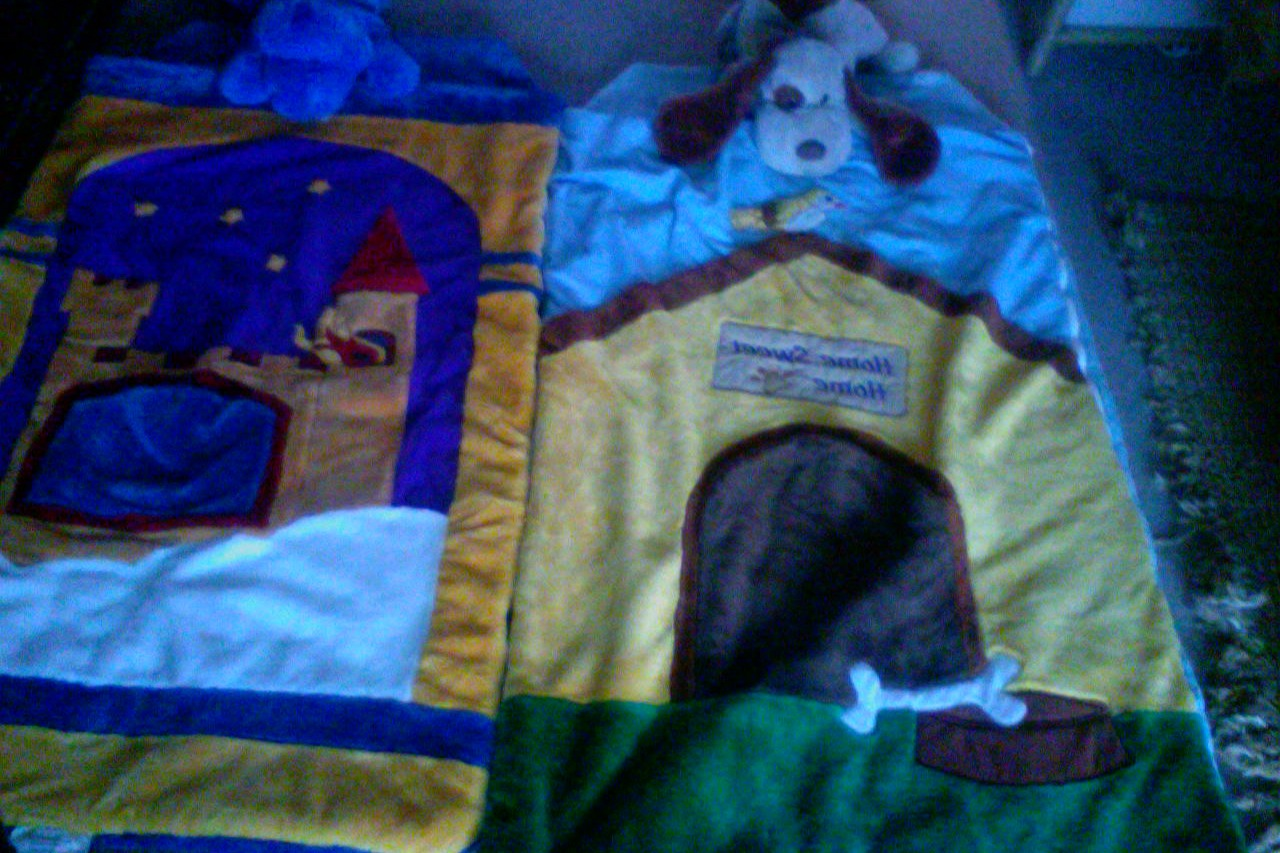 2 Fluffy Designer Sleeping Bags with stuffed pillow.cuddle friend