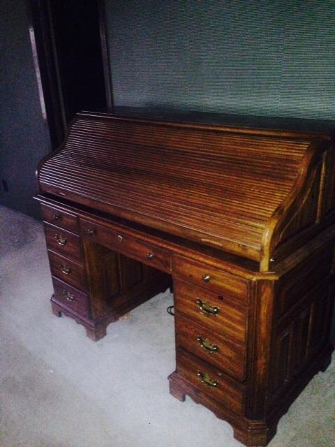 Roll Top Desk Oak In Mdwestunlt S Garage Sale Branson Mo