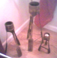 3 Bamboo Candle Holders