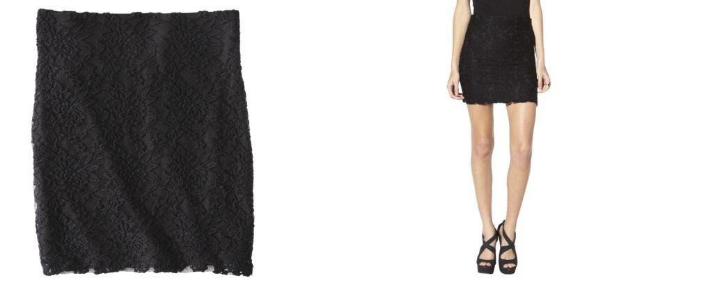 Xhilaration Juniors Lace Skirt Black Size Medium