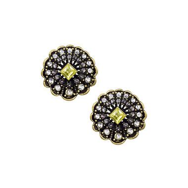 Scalloped Edge Button Earrings