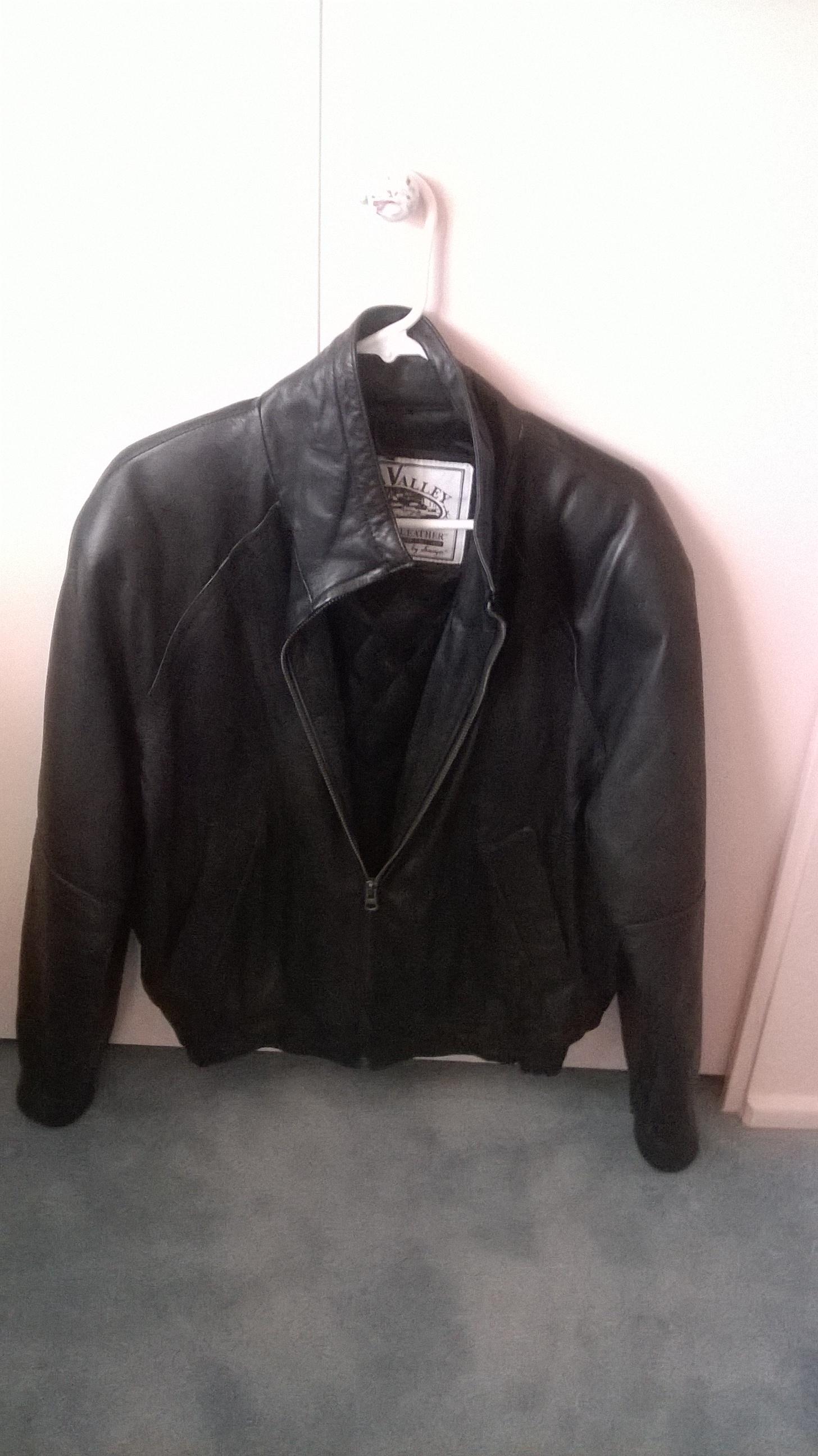 Mens Leather Napa Valley  Coat -Size medium