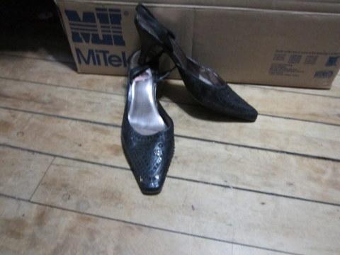 Black Liz Claiborne Sling-Back Heels
