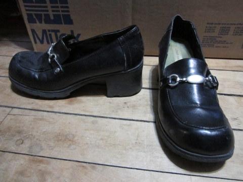 Black Lower East Side Heeled Loafers