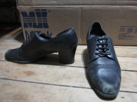 Black Aerosoles Heeled Loafers