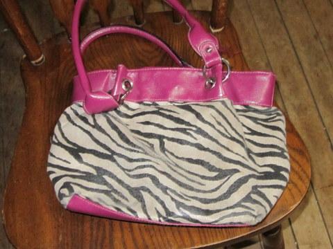 Pink/Zebra Purse